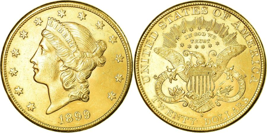 US Coins - Coin, United States, Liberty Head, $20, 1899, San Francisco, , Gold