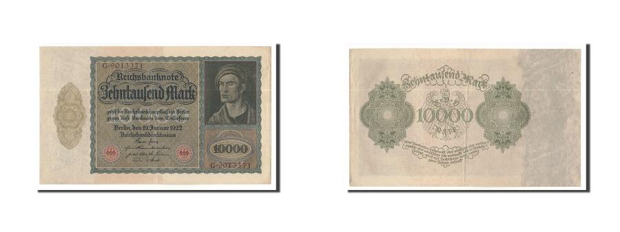 World Coins - Germany, 10,000 Mark, 1922, KM:71, 1922-01-19, AU(55-58), G.9013371
