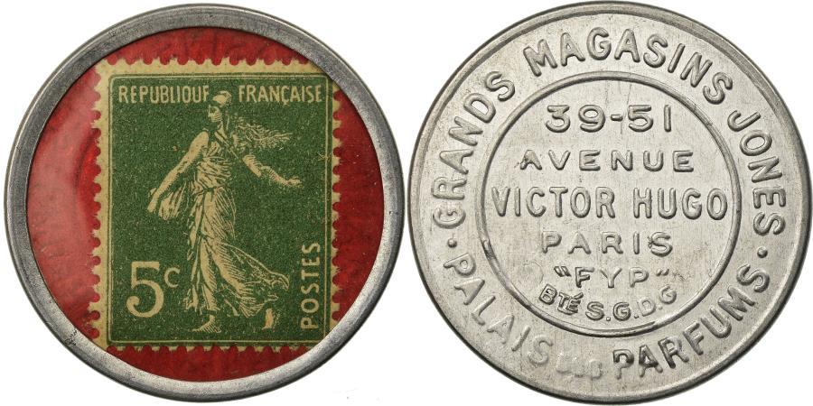 World Coins - Coin, France, Grands Magasins Jones, Parfums, 5 Centimes, Timbre-Monnaie