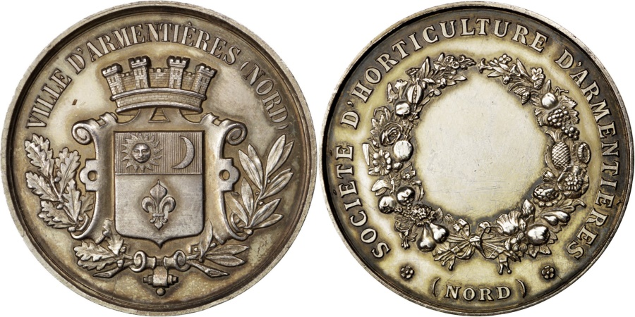 World Coins - FRANCE, Flora, French Third Republic, Medal, , Silver, 42, 37.60