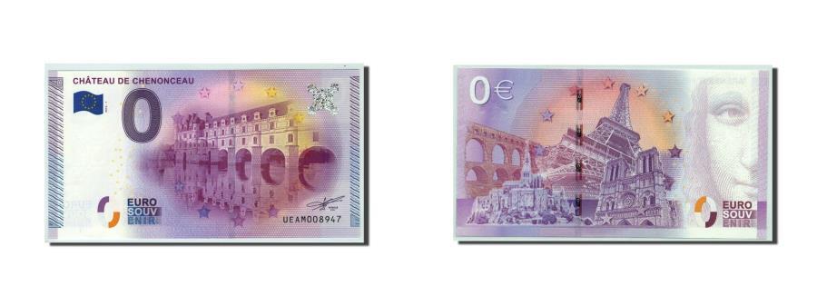 World Coins - France, Tourist Banknote - 0 Euro, 37/ Château de Chenonceau, 2015,