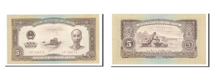 World Coins - Viet Nam, 5 Dng, 1958, KM #73a, UNC(60-62), LP734774