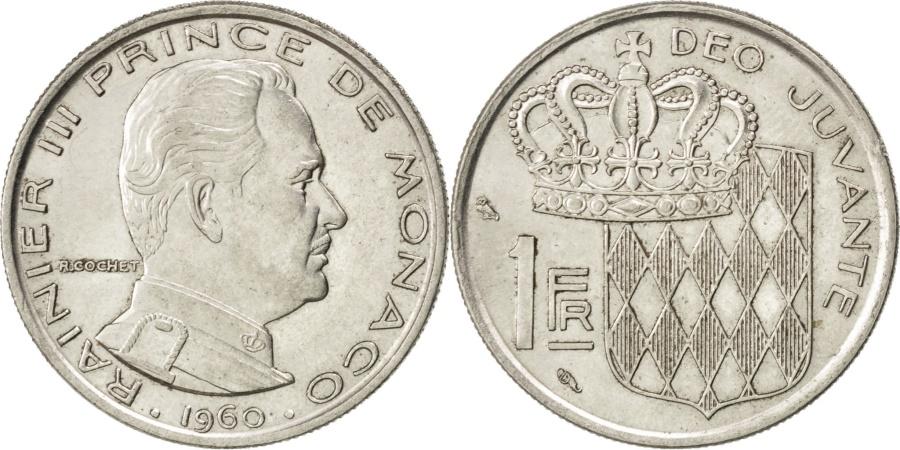 World Coins - MONACO, Franc, 1960, KM #140, , Nickel, 24, Gadoury #150, 5.84