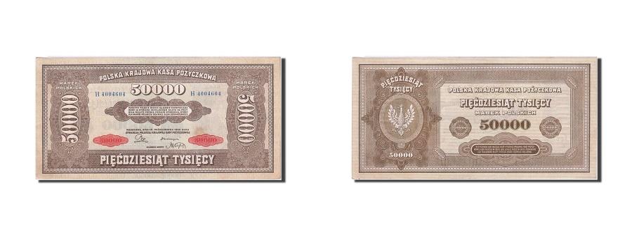 World Coins - Poland, 50,000 Marek, 1922-1923, KM:33, 1922-10-10, UNC(60-62)