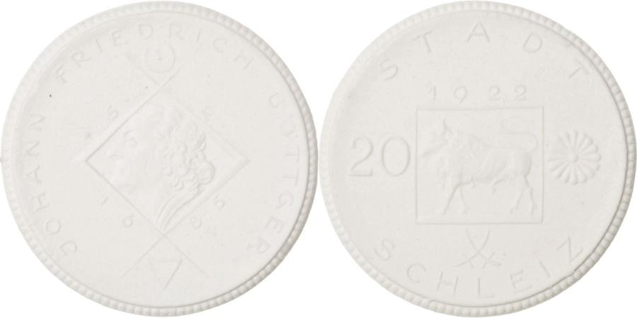 World Coins - Germany, 20 Mark, 1922, , Porcelain, 8.70