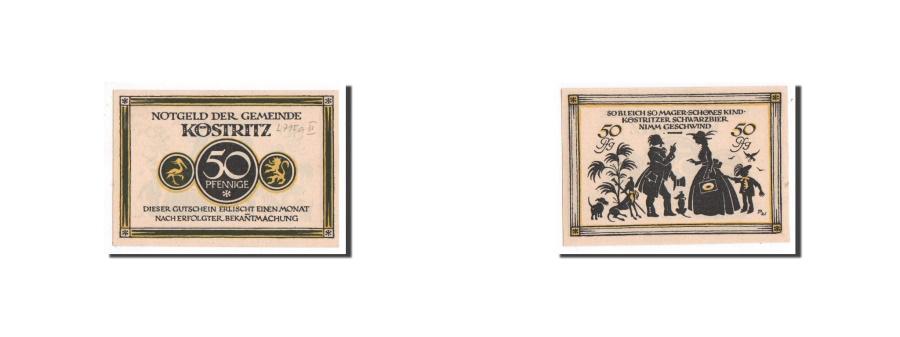 World Coins - Germany, Köstritz, 50 Pfennig, personnage 3, Undated, UNC(65-70), Mehl:736.2