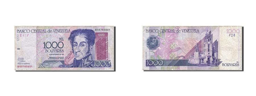 World Coins - Venezuela, 1000 Bolivares, 1998, KM:79, 1998-10-09, EF(40-45)