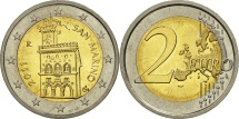 San Marino, 2 Euro, 2011, MS(63), Bi-Metallic