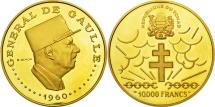 Chad, 10000 Francs, 1960, MS(63), Gold, KM:11