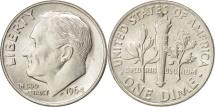 United States, Roosevelt Dime, 1964, Philadelphia, AU(50-53), KM 195