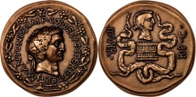 World Coins - France, Medal, Marc-Antoine, History, MS(65-70), Bronze