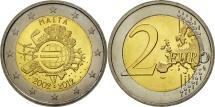 Malta, 2 Euro, 10 years euro, 2012, MS(63), Bi-Metallic
