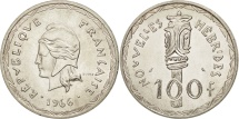 World Coins - New Hebrides, 100 Francs, 1966, Paris, MS(60-62), Silver, KM:1