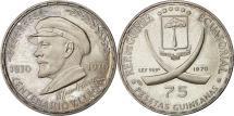 World Coins - Coin, Equatorial Guinea, 75 Pesetas, 1970, MS(63), Silver, KM:9.2