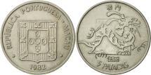 World Coins - Macau, 5 Patacas, 1982, Singapore Mint, AU(55-58), Copper-nickel, KM:24.1