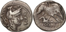 Hosidia, Denarius, 64 BC, Roma, VF(30-35), Silver, Sear:346