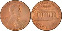 Us Coins - United States, Lincoln Cent, Cent, 1992, U.S. Mint, Denver, AU(50-53)