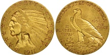 Us Coins - United States, Indian Head, $5, 1911, Philadelphia, EF(40-45), Gold, KM:129
