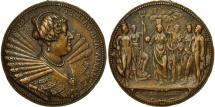 World Coins - France, Medal, Répit entre Marie et Louis XIII, History, 1625, Dupré, AU(50-53)