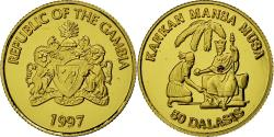 World Coins - Coin, GAMBIA, THE, 50 Dalasis, 1997, , Gold, KM:52