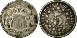 Us Coins - Coin, United States, Shield Nickel, 5 Cents, 1869, U.S. Mint, Philadelphia