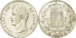 World Coins - Coin, France, Charles X, 5 Francs, 1830, Bordeaux, , Silver, KM:728.7