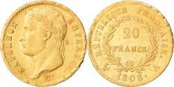 World Coins - Coin, France, Napoléon I, 20 Francs, 1808, Paris, , Gold, KM:687.1
