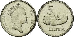 World Coins - Coin, Fiji, Elizabeth II, 5 Cents, 2006, , Nickel plated  steel, KM:51a