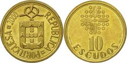 World Coins - Coin, Portugal, 10 Escudos, 2000, , Nickel-brass, KM:633