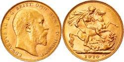 World Coins - Coin, Australia, Edward VII, Sovereign, 1910, Perth, , Gold, KM:15