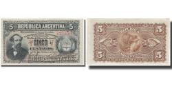 World Coins - Banknote, Argentina, 5 Centavos, 1883, 1883-10-04, KM:5, AU(55-58)