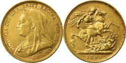 World Coins - Coin, Australia, Victoria, Sovereign, 1893, Sydney, , Gold, KM:10