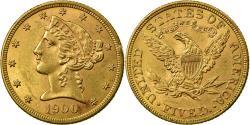 Us Coins - Coin, United States, Coronet Head, $5, Half Eagle, 1900, Philadelphia