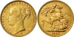 World Coins - Coin, Australia, Victoria, Sovereign, 1887, Melbourne, , Gold, KM:7