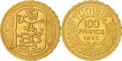 World Coins - Coin, Tunisia, Ahmad Pasha Bey, 100 Francs, 1932, Paris, MS(60-62), Gold, KM:257