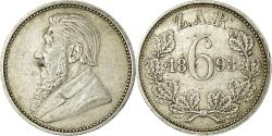 World Coins - Coin, South Africa, 6 Pence, 1893, , Silver, KM:4
