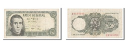 World Coins - Spain, 5 Pesetas, 1951, KM #140a, 1951-08-16, EF(40-45), Q4184086