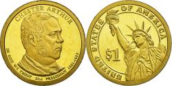 Us Coins - Coin, United States, Dollar, 2012, U.S. Mint, Chester Arthur,