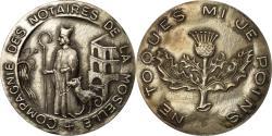 World Coins - France, Token, Compagnie des Notaires de la Moselle, , Silver