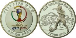 World Coins - Coin, KOREA-SOUTH, FIFA 2002, 10000 Won, 2001, Seoul, Proof, , Silver
