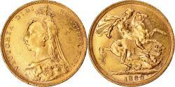 World Coins - Coin, Australia, Victoria, Sovereign, 1889, Melbourne, , Gold, KM:10
