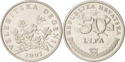 World Coins - CROATIA, 50 Lipa, 2007, KM #8, , Nickel Plated Steel, 20.5, 3.60