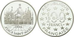 World Coins - Coin, France, Place Saint-Marc, 100 Francs-15 Ecus, 1994, , Silver