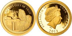 World Coins - Coin, Cook Islands, Elizabeth II, ancient city of Troy, 5 Dollars, 2013