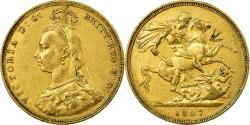 World Coins - Coin, Australia, Victoria, Sovereign, 1887, Melbourne, , Gold, KM:10
