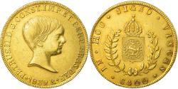 World Coins - Coin, Brazil, Pedro II, 6400 Reis, 1832, Rio de Janeiro, EF(40-45), Gold