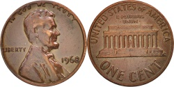 Us Coins - United States, Lincoln Cent, Cent, 1968, U.S. Mint, Philadelphia,