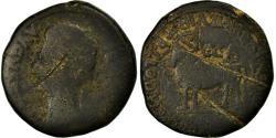 Ancient Coins - Coin, Spain, As, Caesaraugusta, F(12-15), Copper