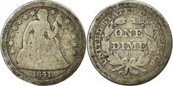 Us Coins - Coin, United States, Seated Liberty Dime, Dime, 1841, U.S. Mint, New Orleans