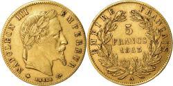 Ancient Coins - Coin, France, Napoleon III, Napoléon III, 5 Francs, 1863, Paris,